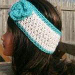 Headband, Turquoise, White,..